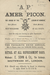 Advert For Amer Picon, Alcohol
